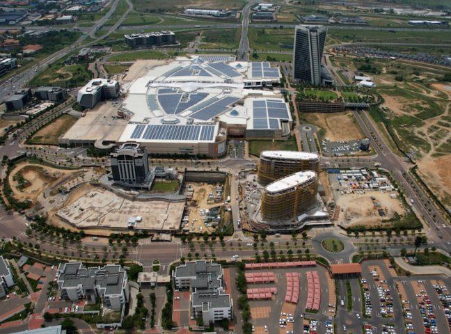 Courtyard Hotel Waterfall City - aerial shot